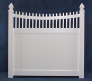 Privacy Fence with Scalloped Top
